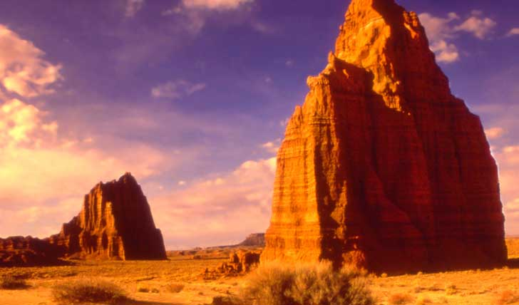 Awe at the incredible rock formations in utah