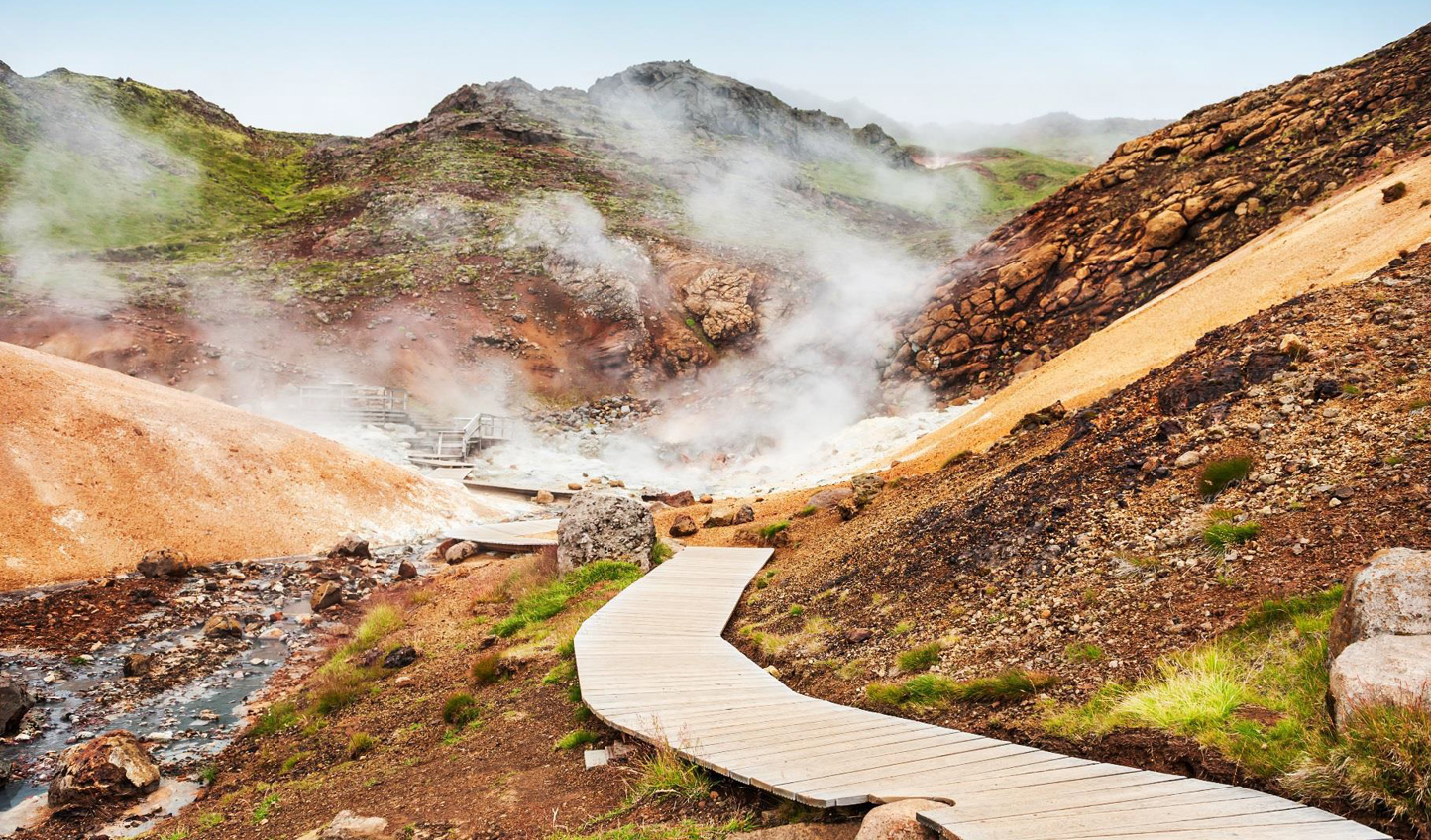 Discover Iceland's geothermal wonders on this luxury volcano tour