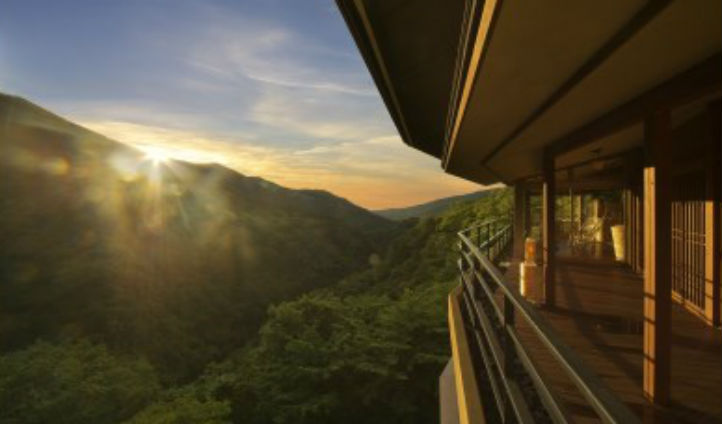 Mountain views at Ginyu Hakone