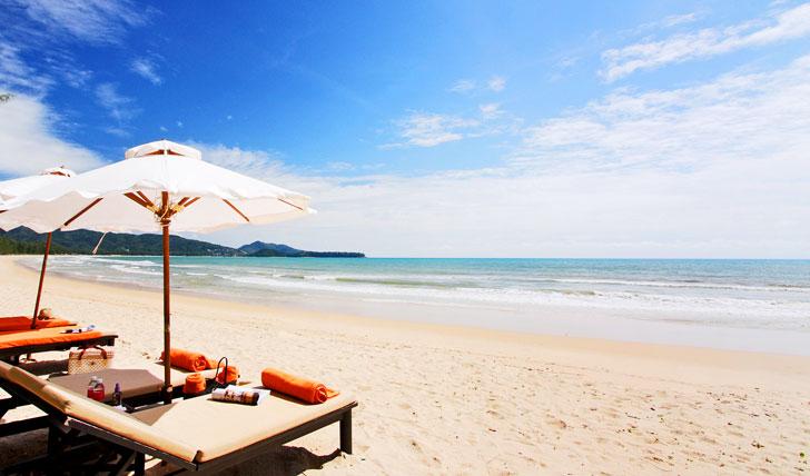 Flop on Phuket's golden sands