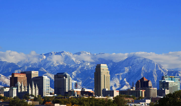 Salt Lake City's incredible mountain back-drop