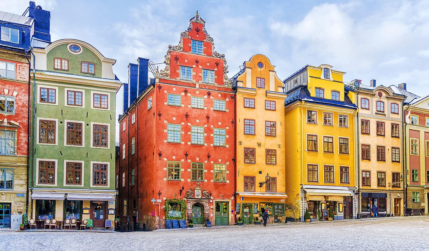 Marvel at the beautiful buildings of Stockholm