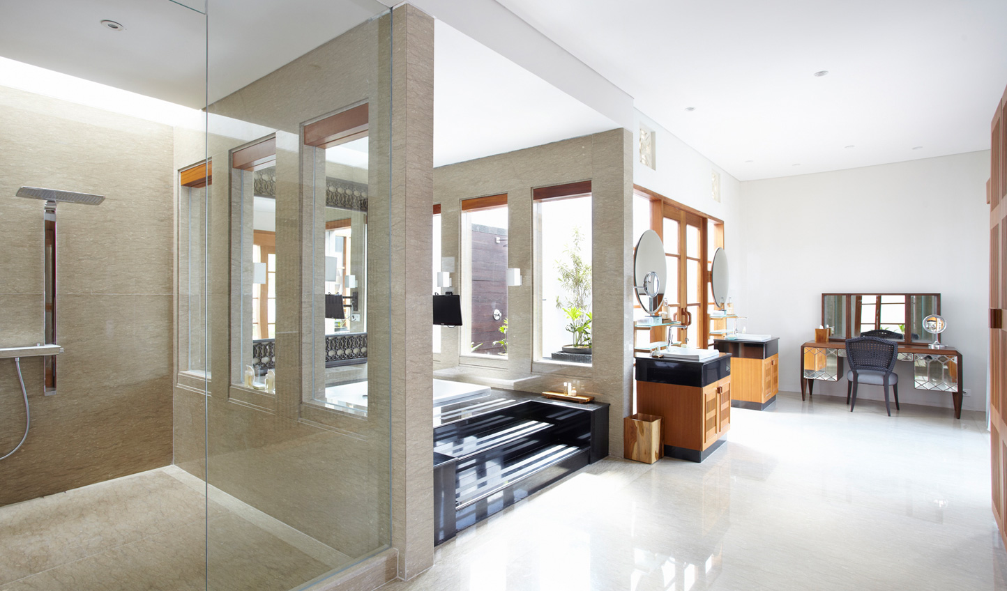 Balinese style gives way to slick modern bathrooms