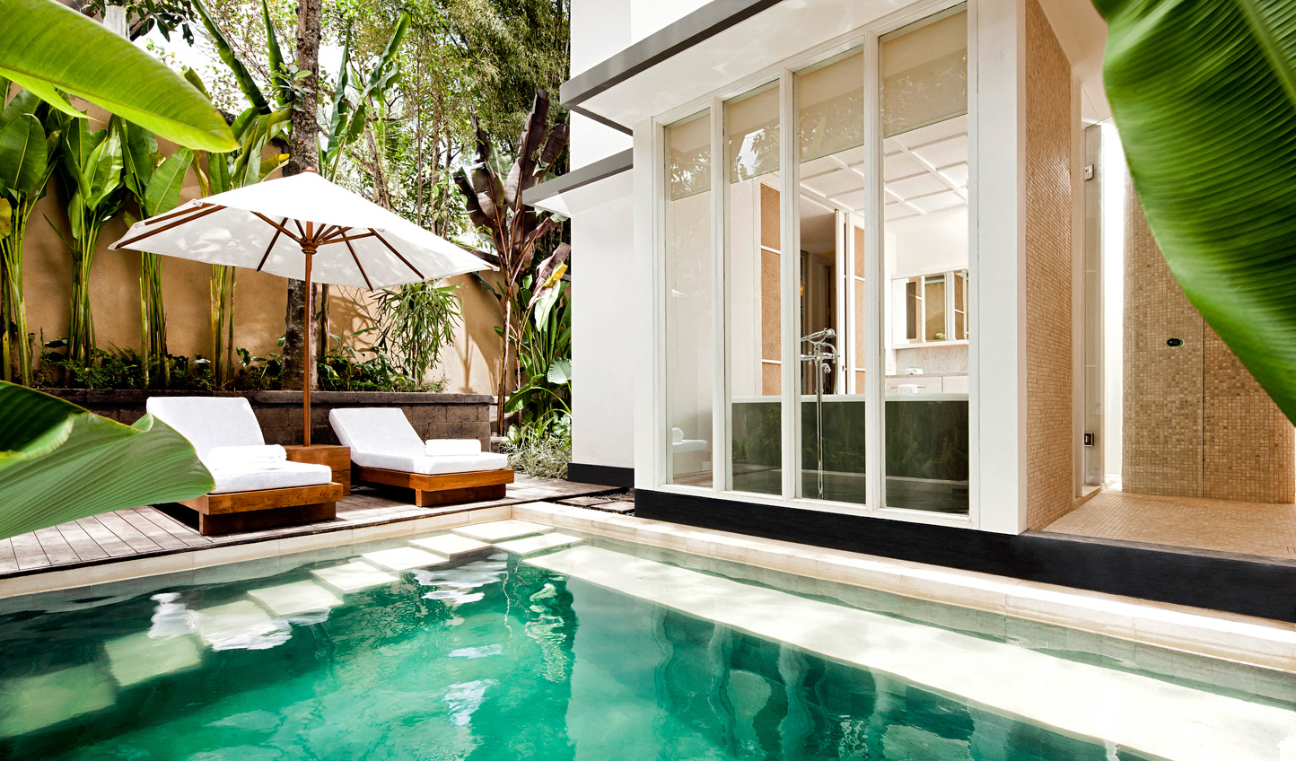 Soak up the privacy of your Pool Suite