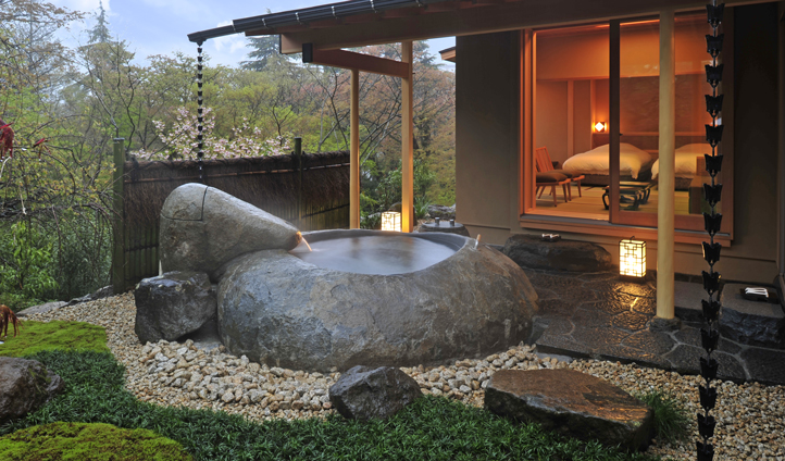 Room with a private spa