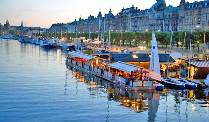 Dine on Stockholm's picturesque docks