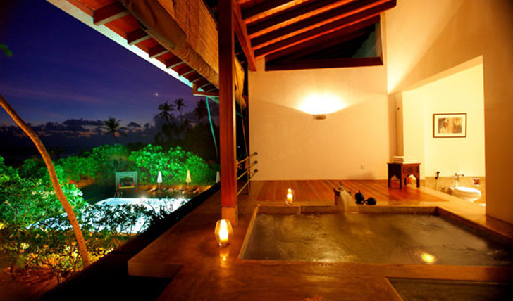 One of the fantastic private plunge pools at Aditya, Sri Lanka