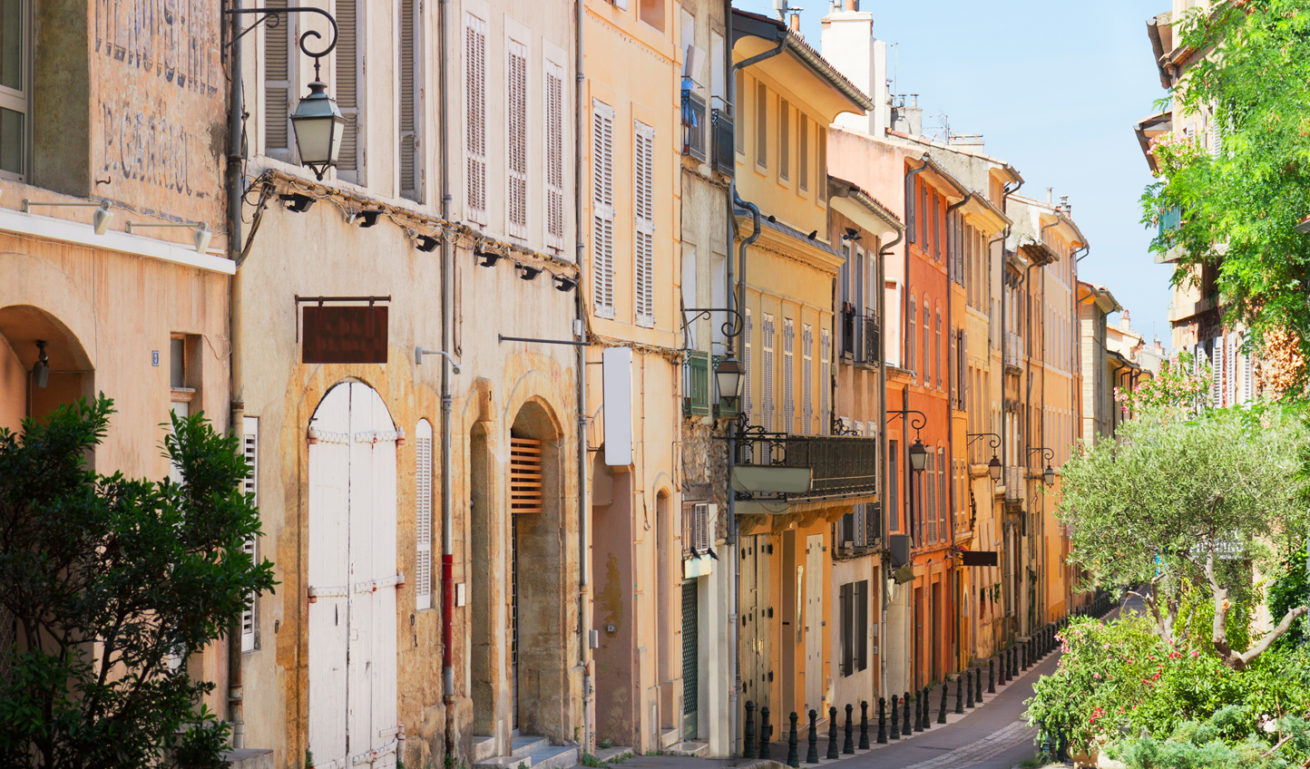 Stroll through cobbled streets in Aix-en-Provence