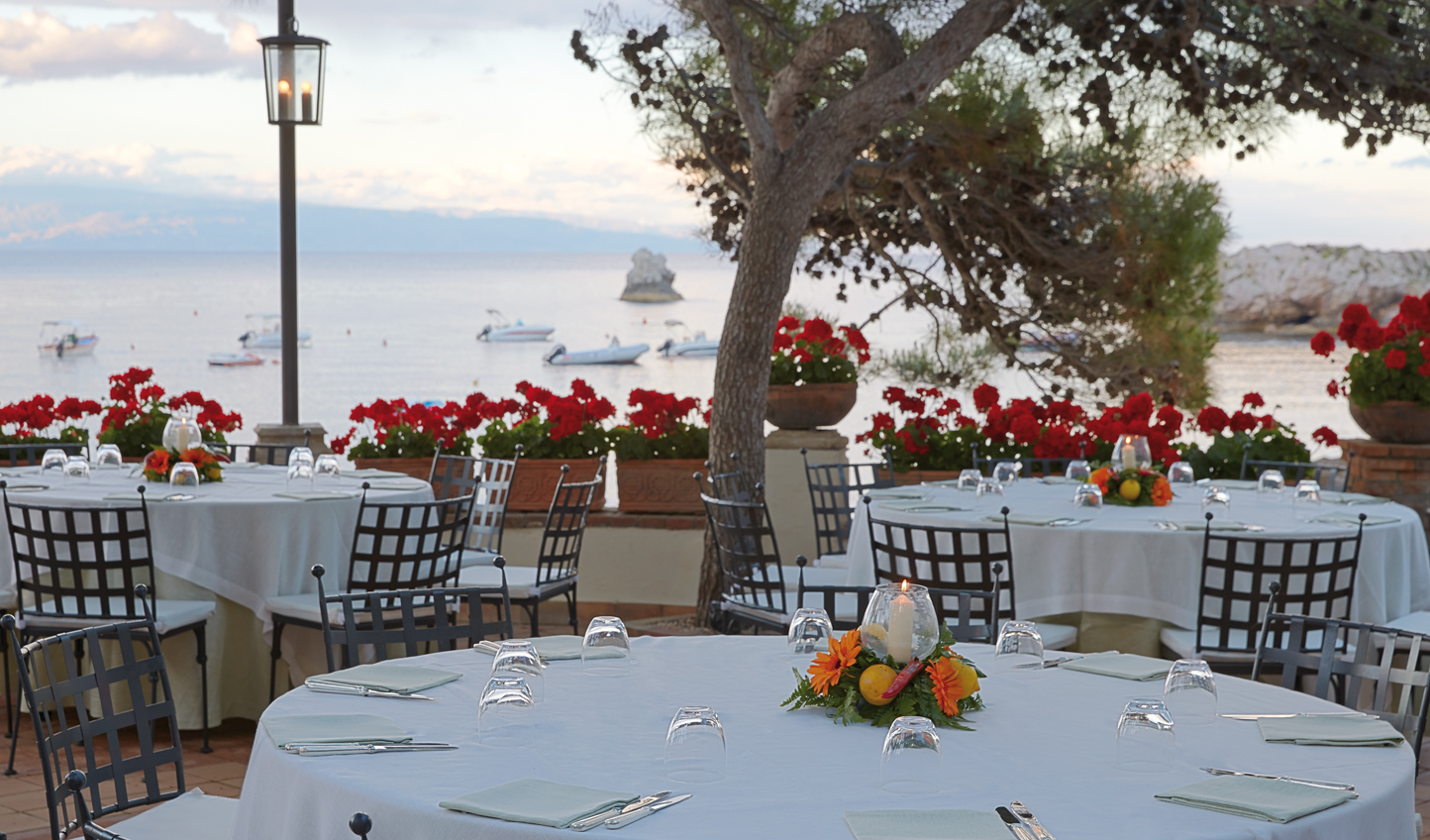 Dine al fresco and watch the sunset