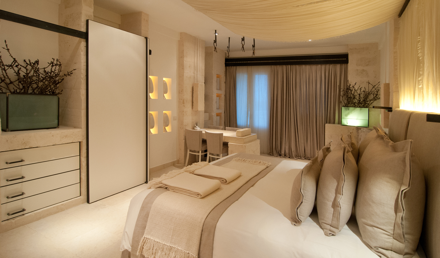 A luxurious space to retreat to at the end of each day