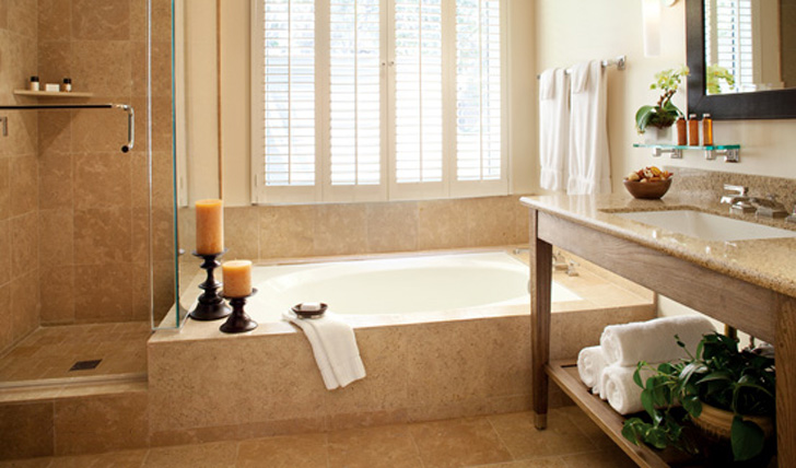 a luxury bathroom at Carmel Valley Ranch, California, USA