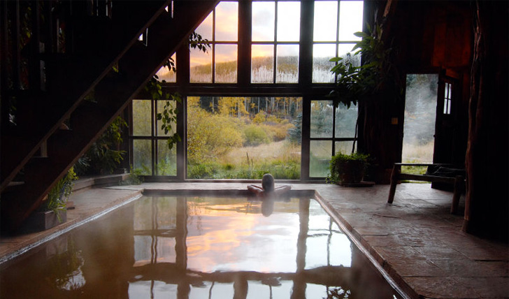 The idyllic hotel spa at Dunton Hot Springs