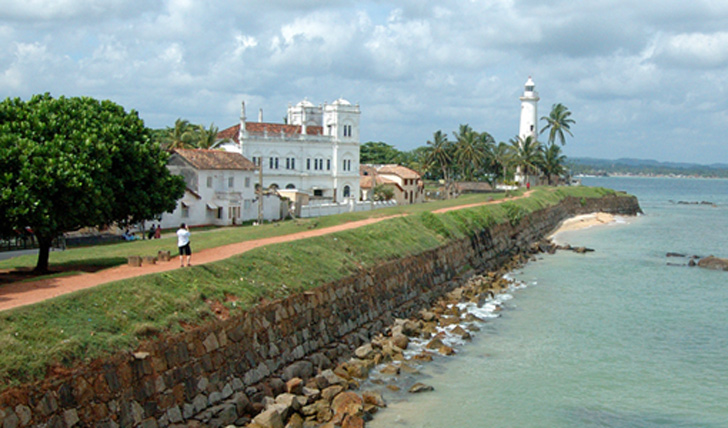 the historic town of Galle overlooking the sea, Sri Lanka