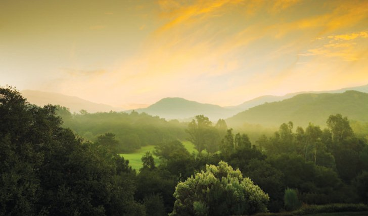 The surrounding countryside in the sun at Ojai Valley Inn and Spa