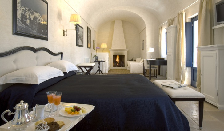 The rooms at Masseria Torre Miazza