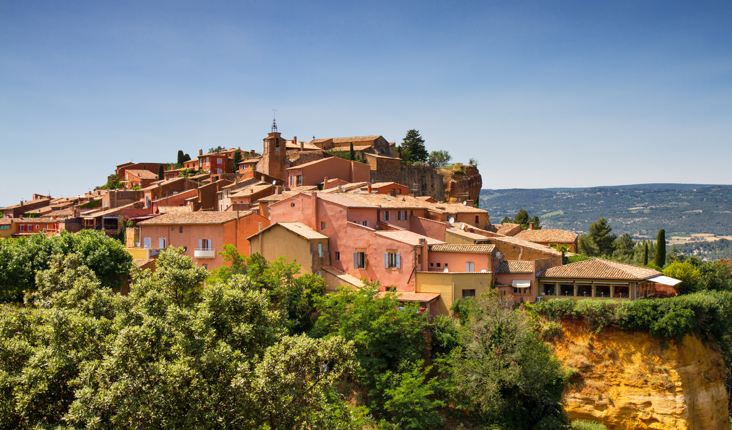 Visit the russet-hued village of Rousillon