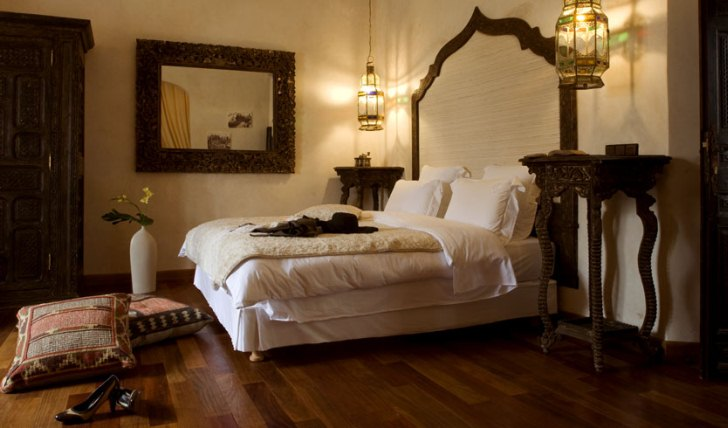 a luxurious bedroom at Villa de L'O, Morocco