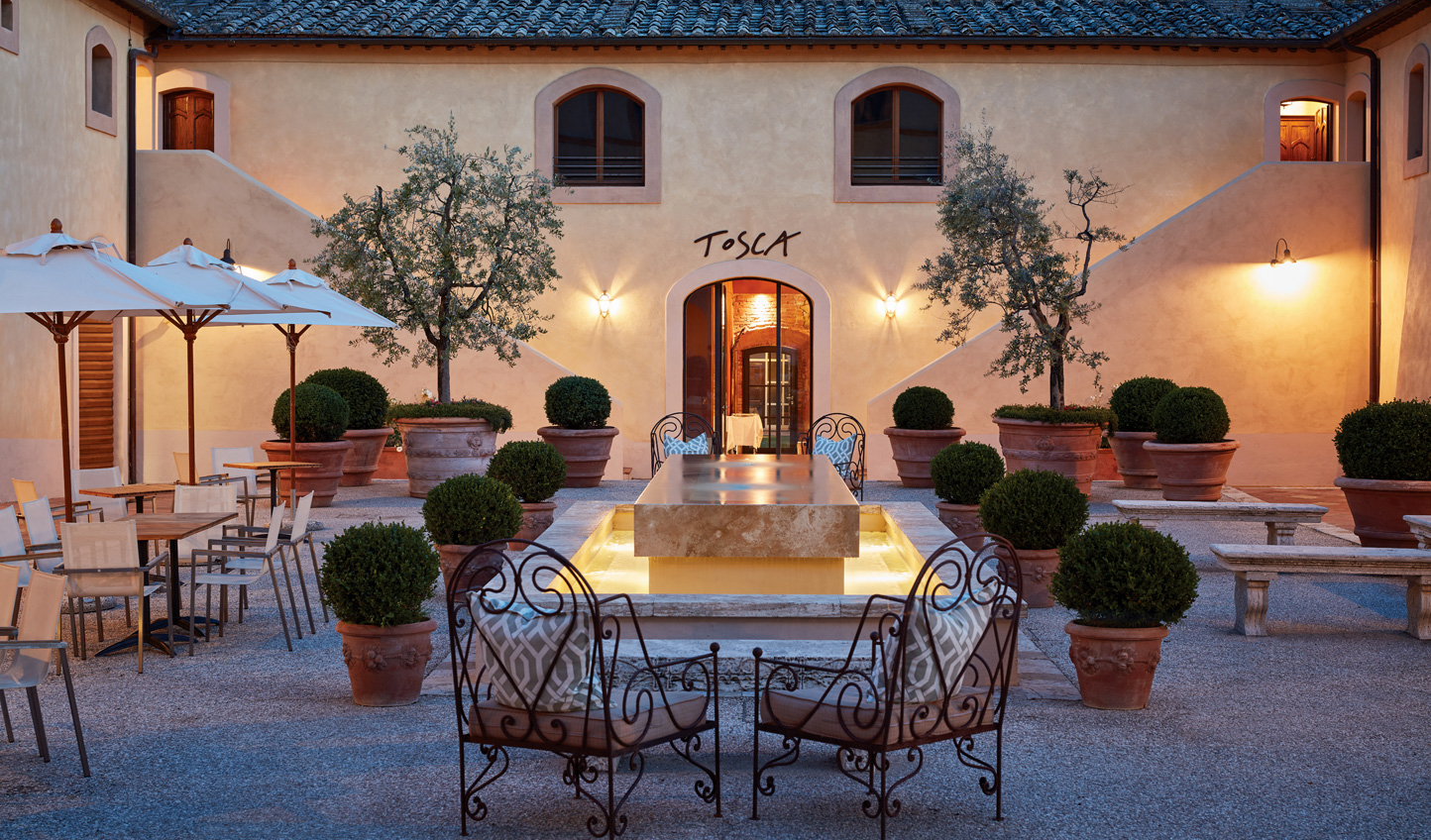 Spend balmy evenings out in the courtyard