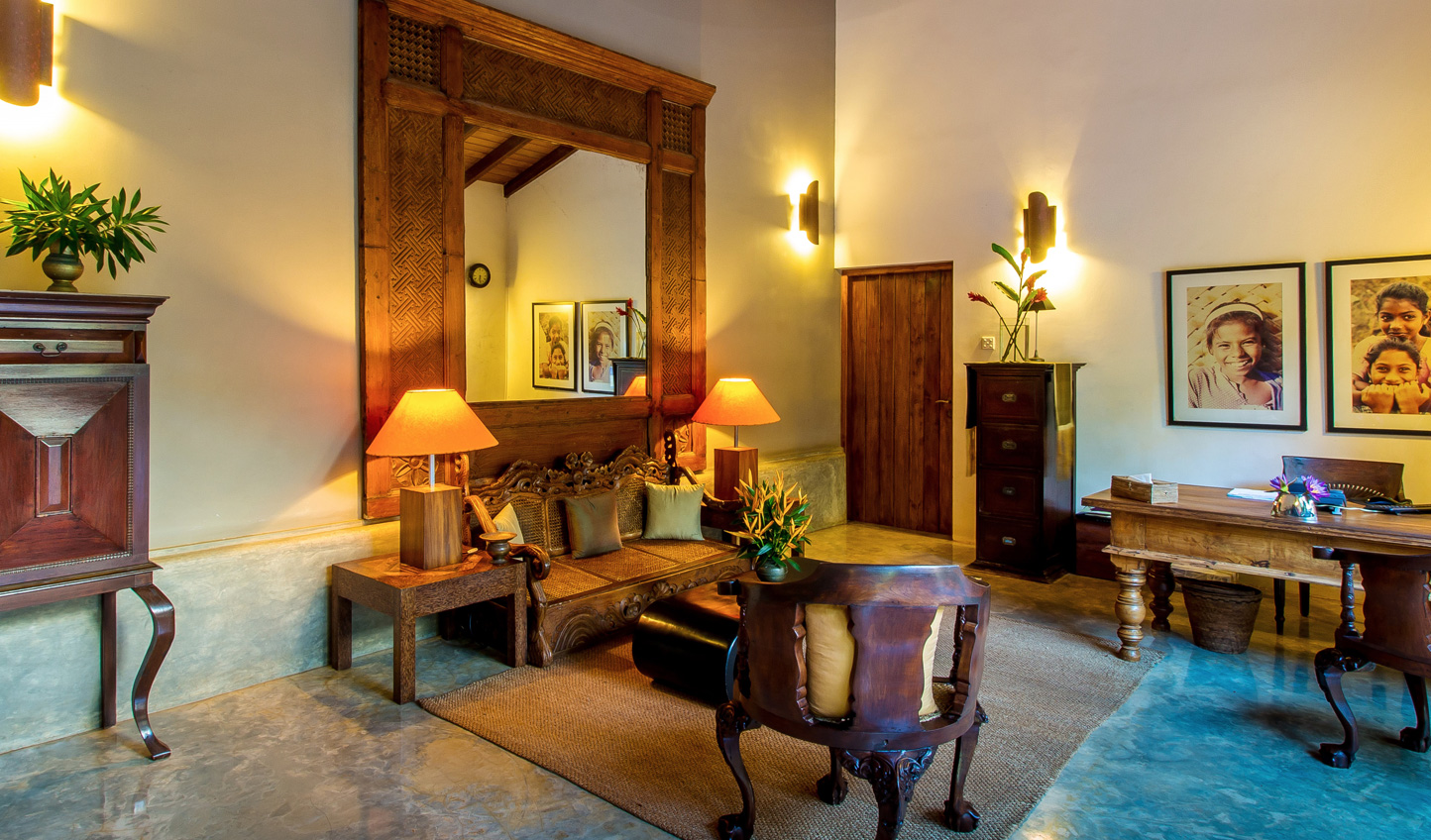 Colonial design is blended with traditional Sri Lankan touches