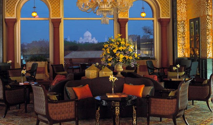 The hotel's luxurious tea lounge