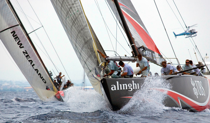 Americas Cup sailing in the Bahamas