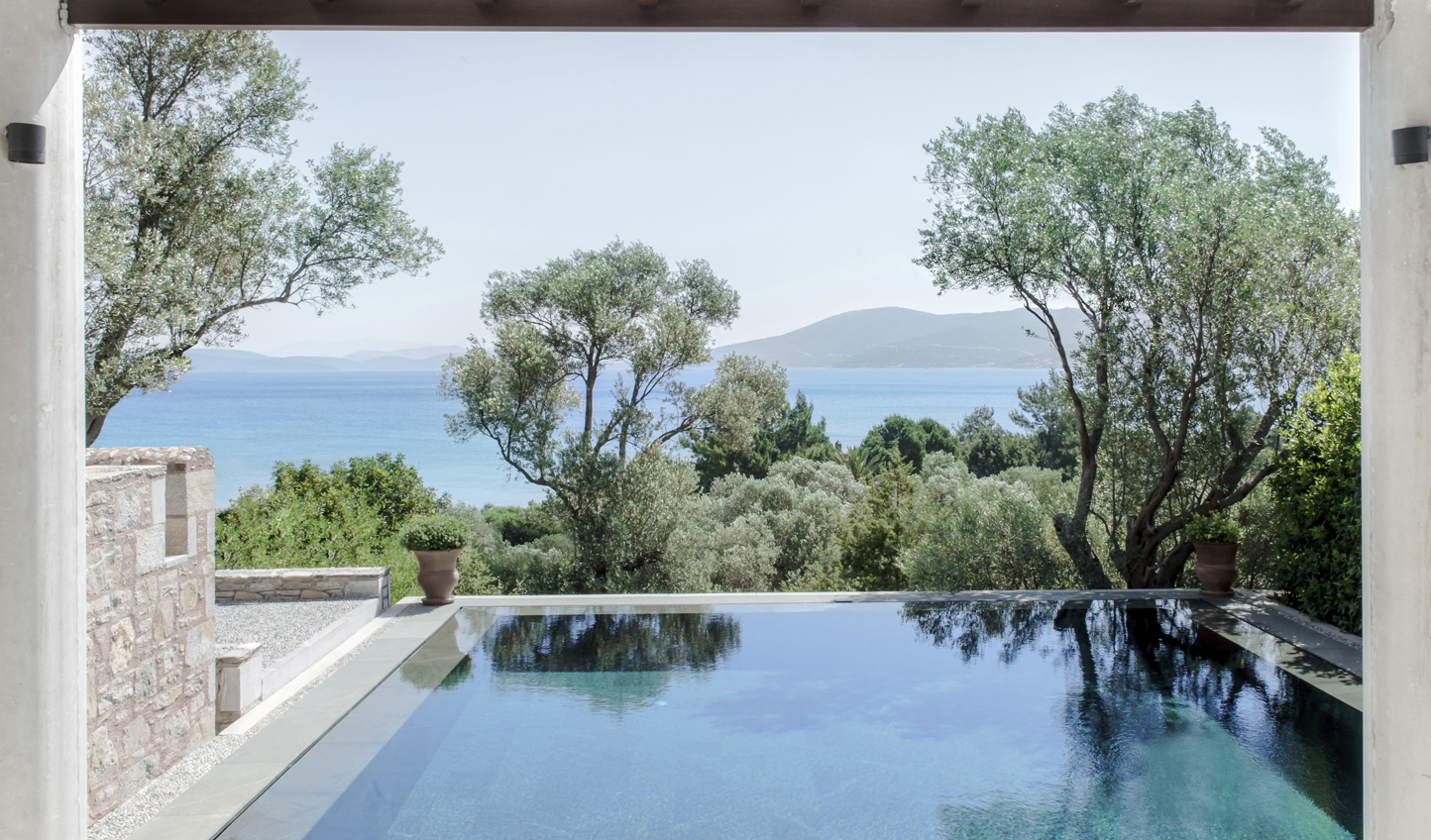Dive into your private plunge pool and soak up the view