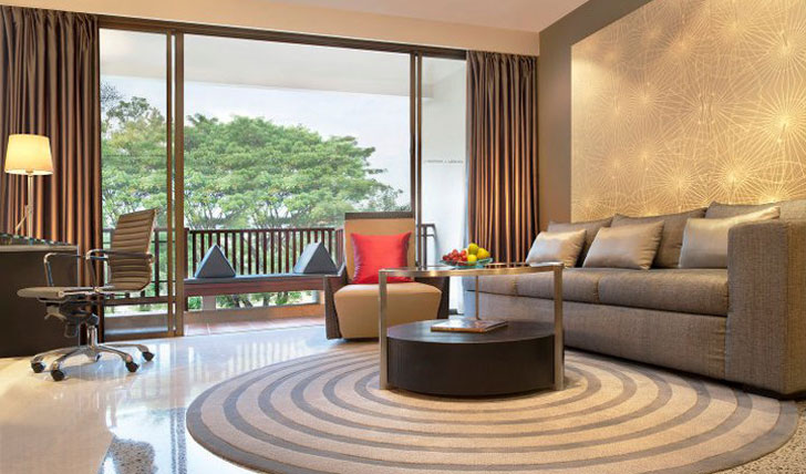 Relax in the lounge at Le Meridien Hotel