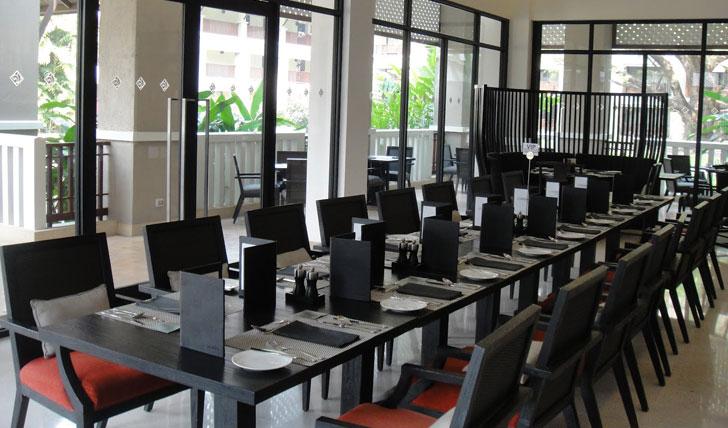 Dining room at Le Meridien Hotel