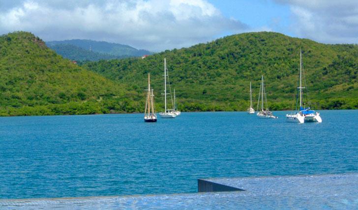 Mount Hartman's poolside views