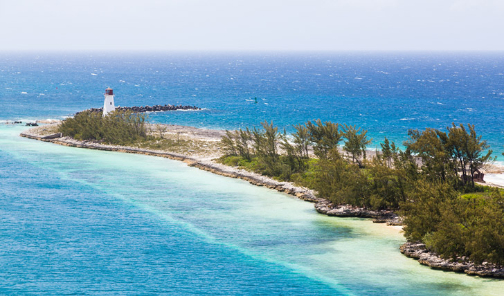 Lighthouse in the Bahamas Black Tomato beach holidays