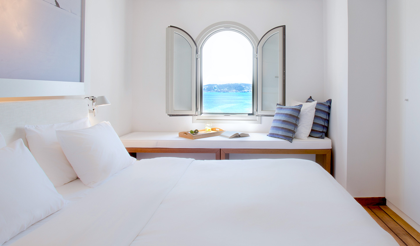 Wake up to views of endless azure waters