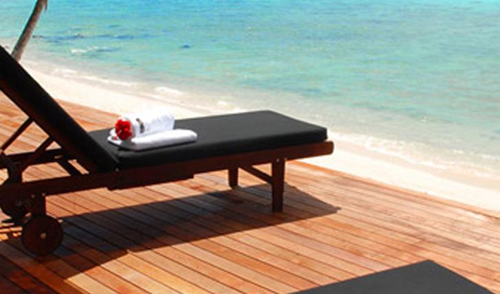 Private beach deck