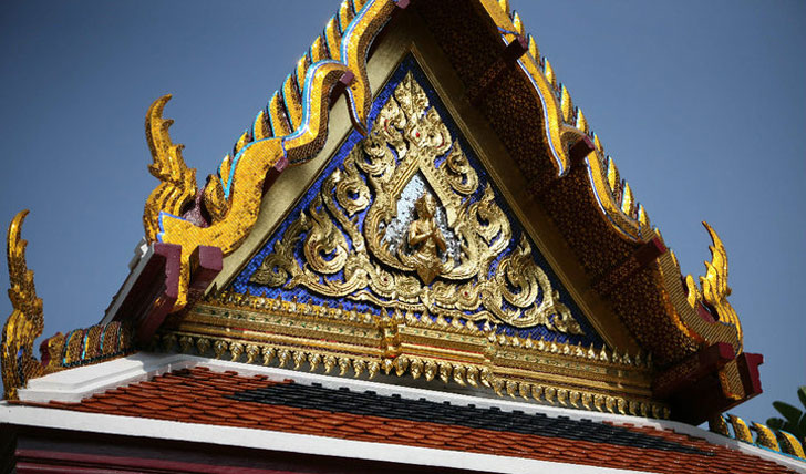 Ornate temple in Bangkok Grand Palace