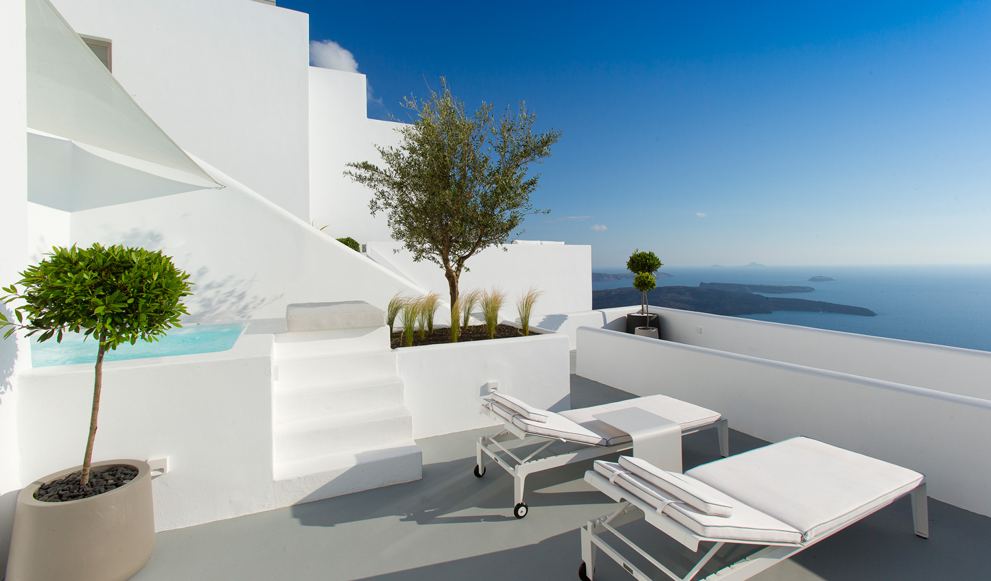 Enjoy views of the Aegean Sea from your private terrace