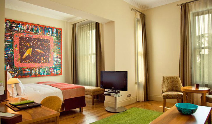 The colourful rooms at Tomtom