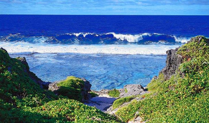 The volcanic landscapes of Aitutaki