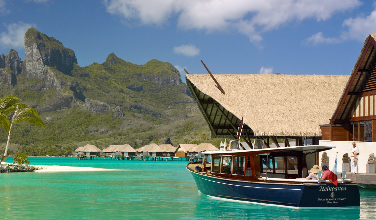 Arrive in style at Four Seasons Bora Bora