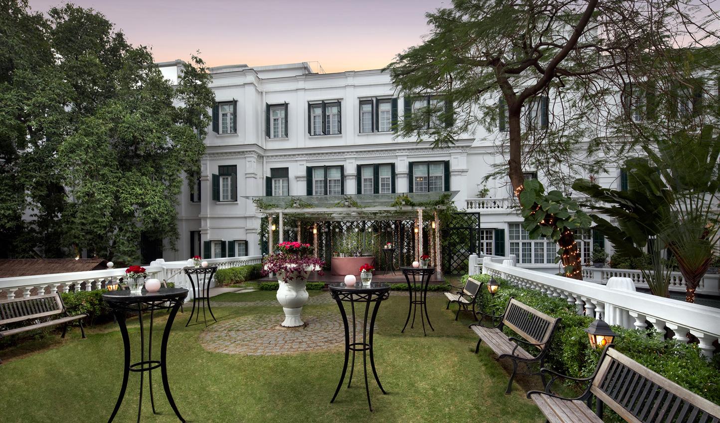 Escape the city in the hotel's gardens