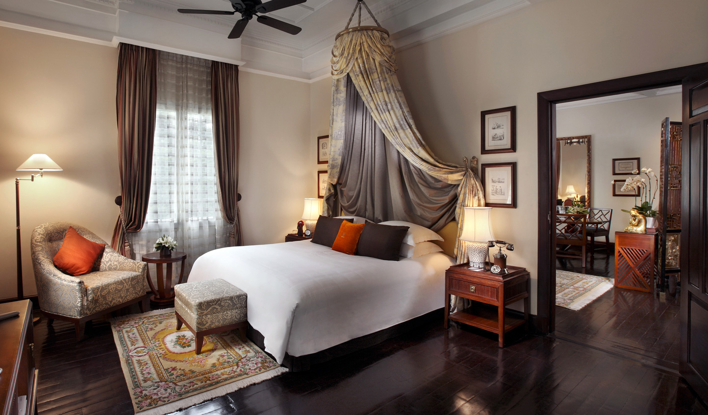 Rich fabrics and elegant interiors make for a luxurious stay