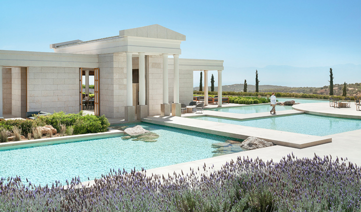 Arrive to peace and tranquility at Amanzoe