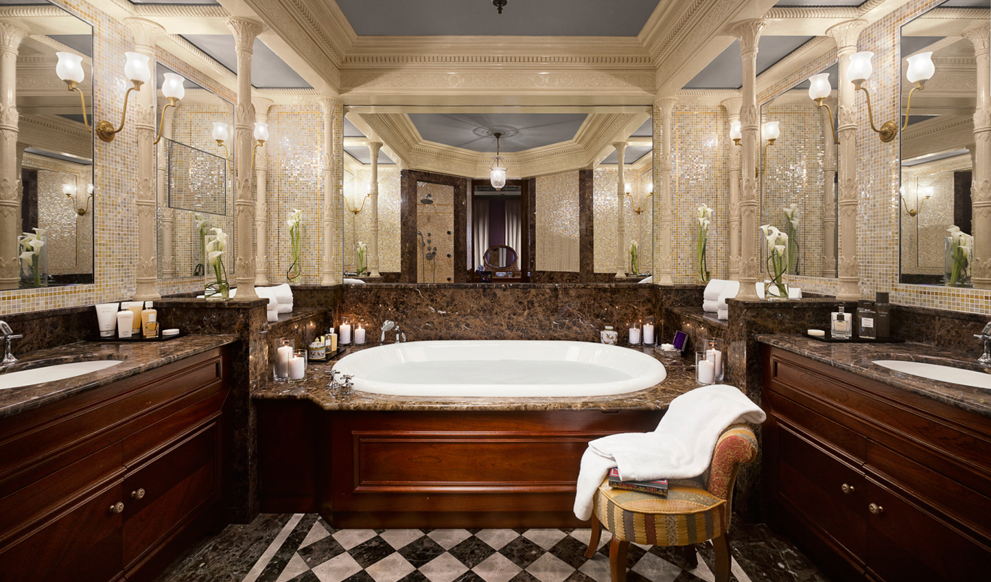 Step into the opulent Carre d'Or bathroom