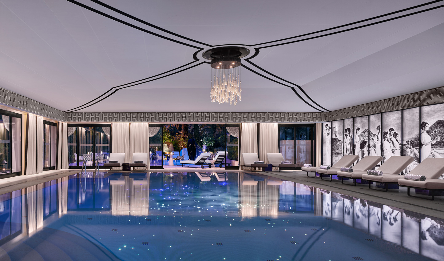 For a touch of style, head to the Karl Lagerfeld designed Odyssey Pool