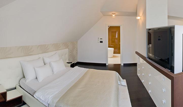 The spacious top-floor Luxury Marmont Suite