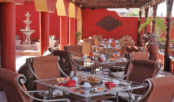 Dining on the Terrace