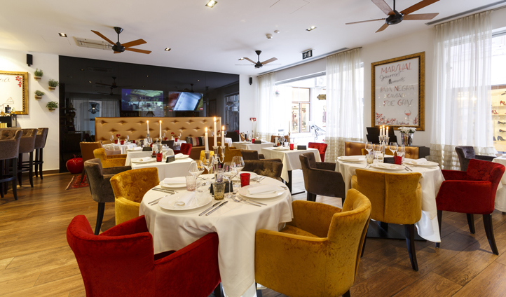 Experience Croatian specialties in the Marshal Restaurant