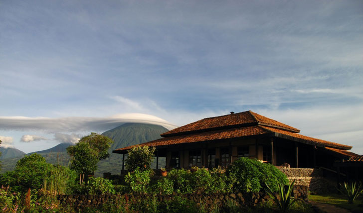 Exterior of Virunga Lodge, Rwanda