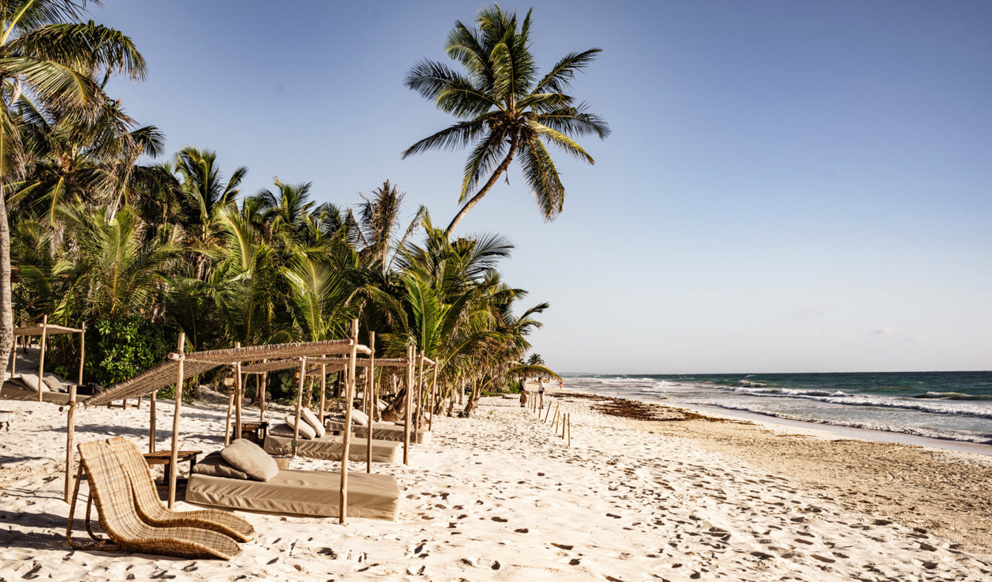 Relax on the pristine beaches of Be Tulum