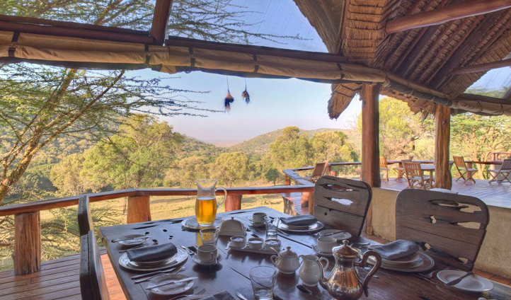 Breakfast with a view at Saruni Mara
