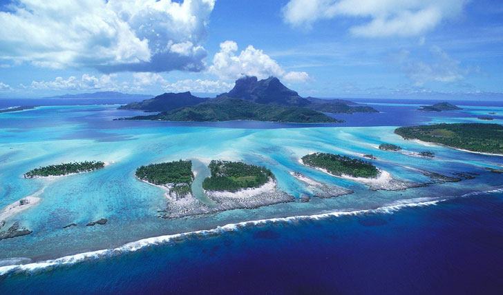 Coral reefs at French Polynesia