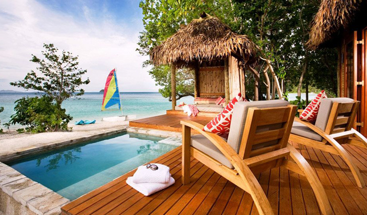 Relax beside your private pool